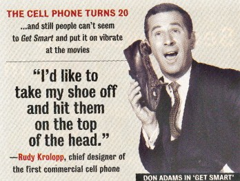 Get Smart Movie Steve Carell talking on the shoe phone 8 x 10 Photo GSM1003a