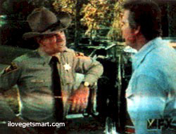 Don gives Lee Majors heck about speeding on the Fall Guy